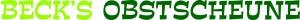 Obstscheune Beck Logo